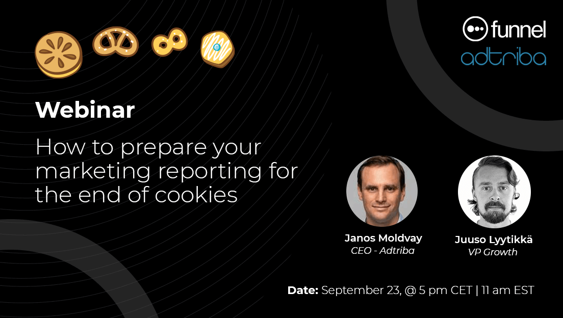 Webinar banner titled - How to prepare your marketing reporting for the end of cookies