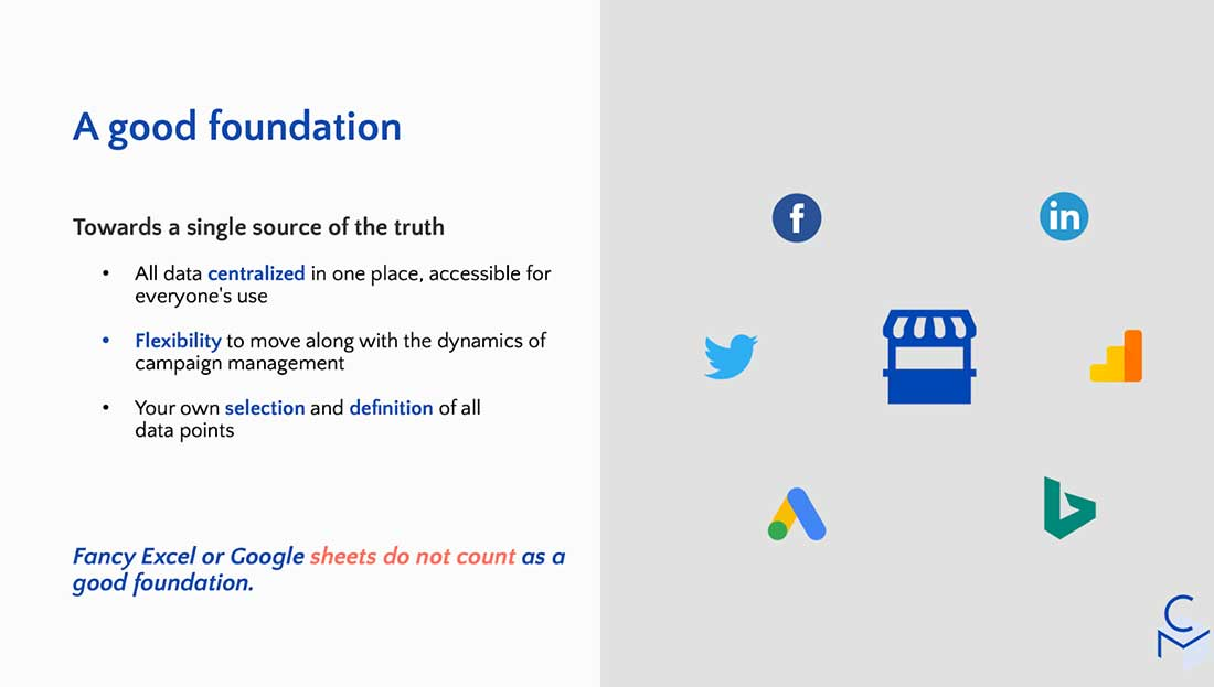 foundation marketing reporting