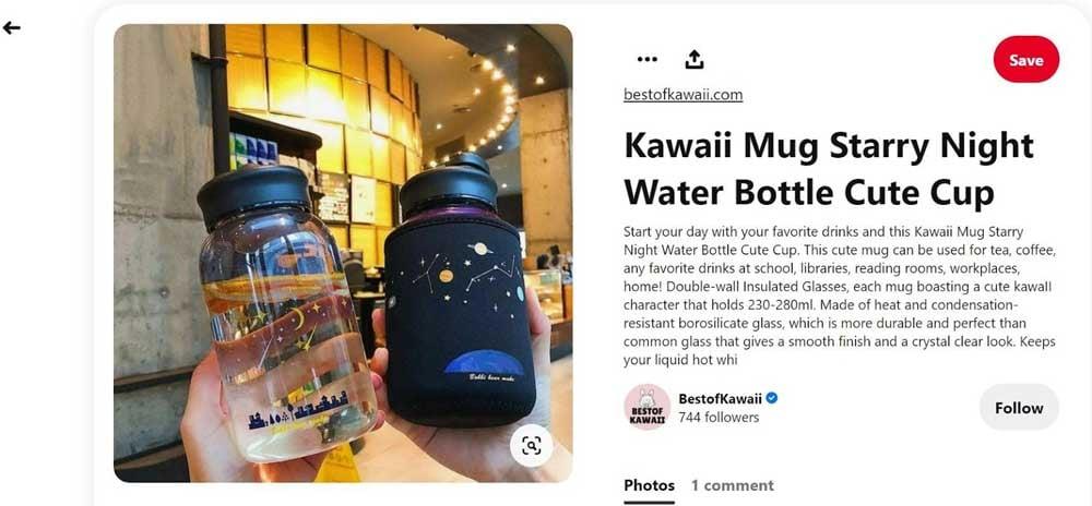 kawaai-mug-ad-on-pinterest-static-ad-example